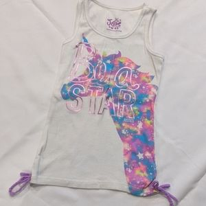 🆕 Justice Girls Size 8 Be a Star Tank Top